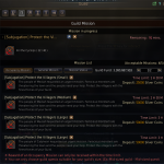 The guild missions tab in Black Desert Online