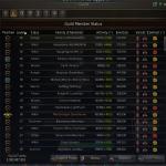 The guild roster in Black Desert Online